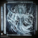 Sketchbook - Dark Galadriel by Candra