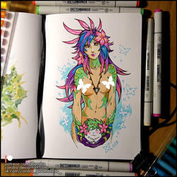 Sketchbook - Neeko and Shaymin (NSFW on Patreon) by Candra