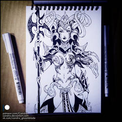 Sketchbook - Morathi (NSFW on Patreon) by Candra