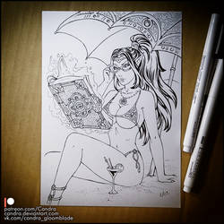 Sketchbook - Myst on the beach by Candra