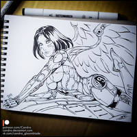 Sketchbook - Alita (NSFW on Patreon) by Candra