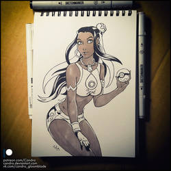 Sketchbook - Nessa (NSFW on Patreon) by Candra
