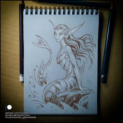 Sketchbook - Mermaid by Candra