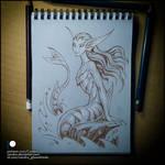 Sketchbook - Mermaid by Candra