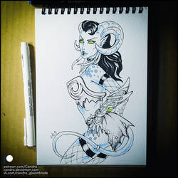 Sketchbook - Lady Sacrolash (NSFW on Patreon) by Candra