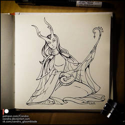 Sketchbook - Fairy Musician by Candra