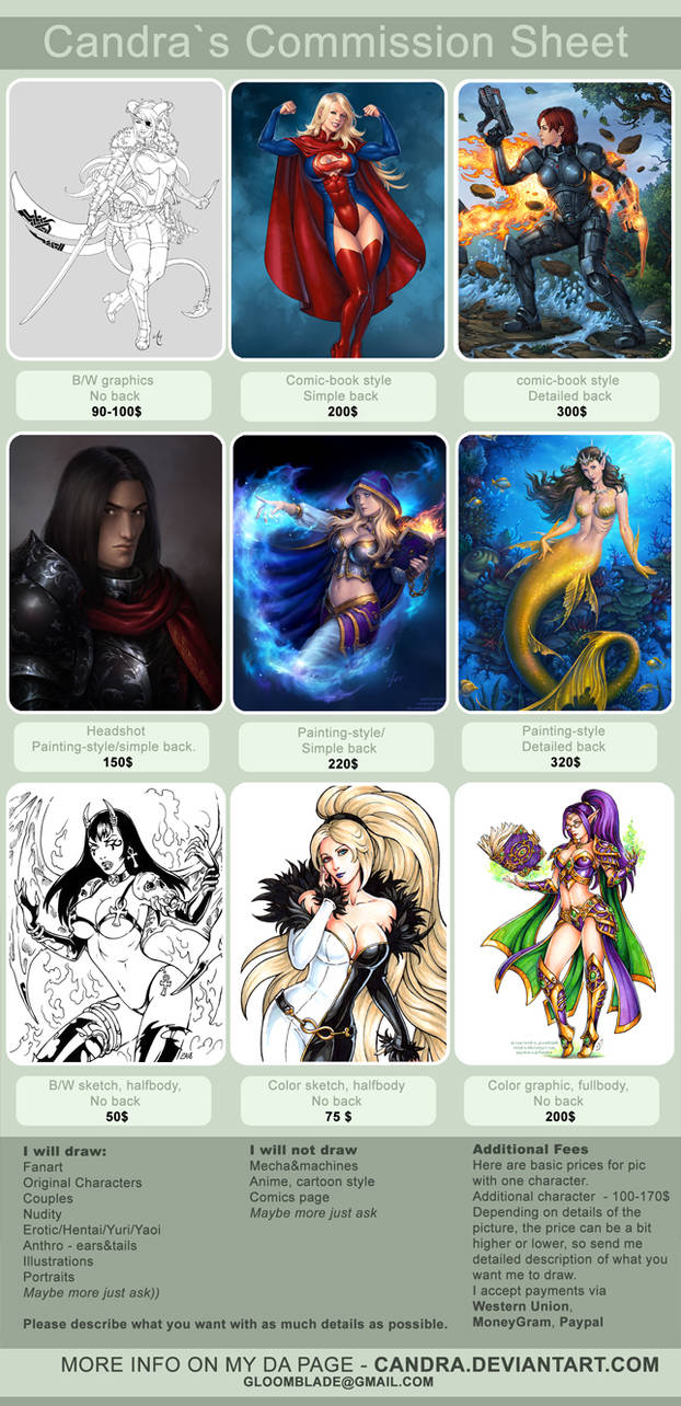 Commission price list - NEW by Candra