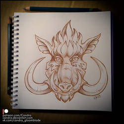 Sketchbook - Boar by Candra