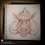 Sketchbook - Boar by Candra