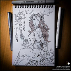 Sketchbook - Keyleth (NSFW on Patreon) by Candra