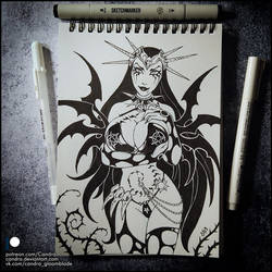 Sketchbook - Raven Hex (NSFW on Patreon) by Candra