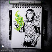 Inktober Day 14 - Green (Farrick Von Raid)
