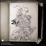 Sketchbook - Fairy smoking pipe