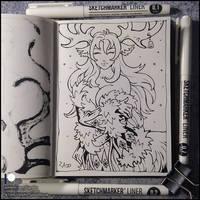 Sketchbook - White Horn