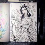 Sketchbook - Spirit Blossom Cassiopeia (SFW)