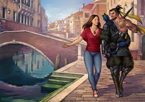 Commission - Romantic walk
