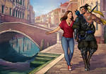 Commission - Romantic walk by Candra