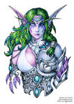 Two faces of Tyrande by Candra