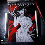 Sketchbook - Lady Dimitrescu