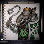 Sketchbook - Babar the Loxodon Paladin