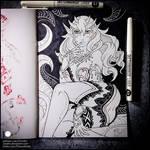 Sketchbook - Empress Celestina (SFW)