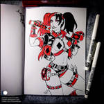 Sketchbook - Harley Quinn (SFW) by Candra