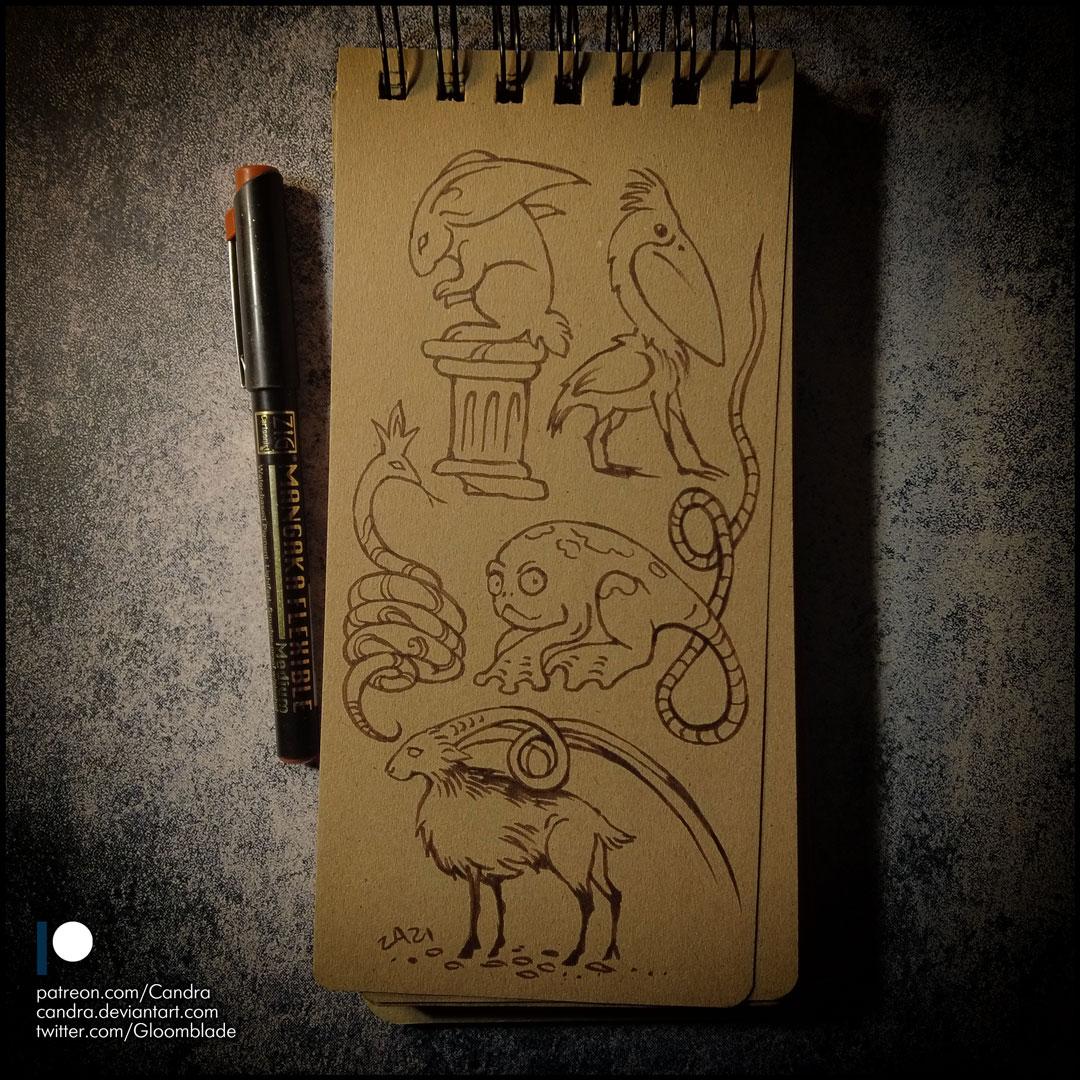 Sketchbook - Monsters doodles