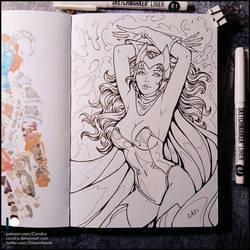 Sketchbook - Scarlet Witch (SFW)