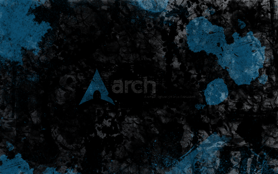 Arch Linux Grungy Wallpaper 2 by dzoniboj