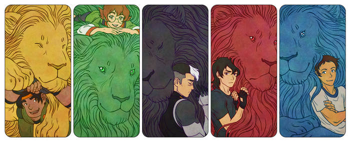 Voltron Paladins and their Lions