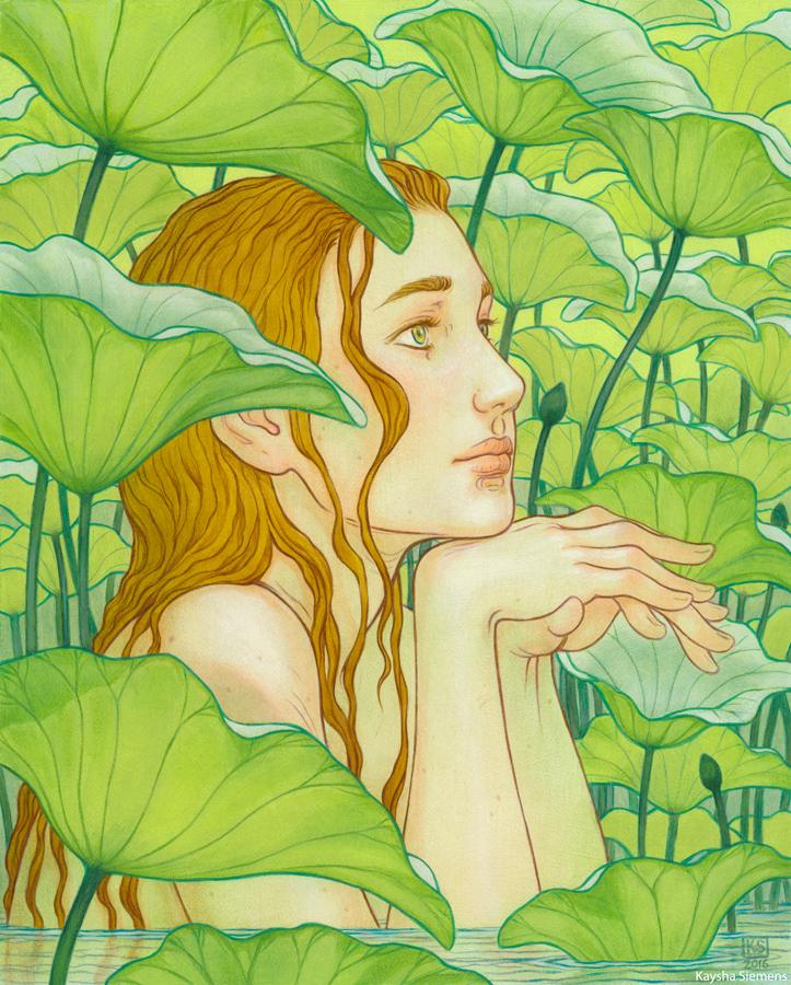 Amidst the Lotus Leaves by Eldanis