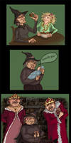 Pratchett doodles-Wyrd Sisters by yenefer