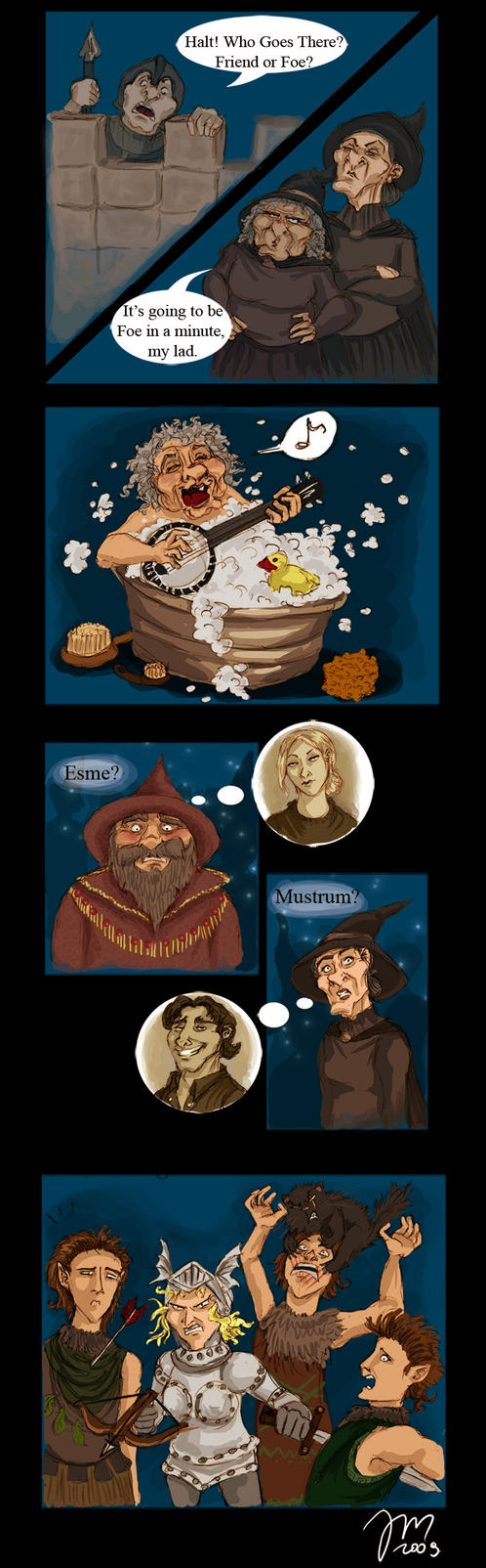 Pratchett - Lords and Ladies by yenefer