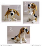 Needle felting - Beagle