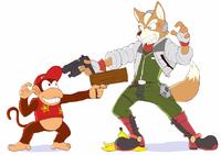 Diddy Kong vs Star Fox by kaijudo235