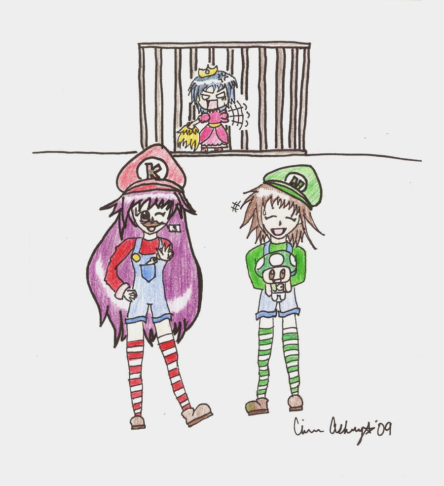 The Mario Sisters by psycho-gummybearz