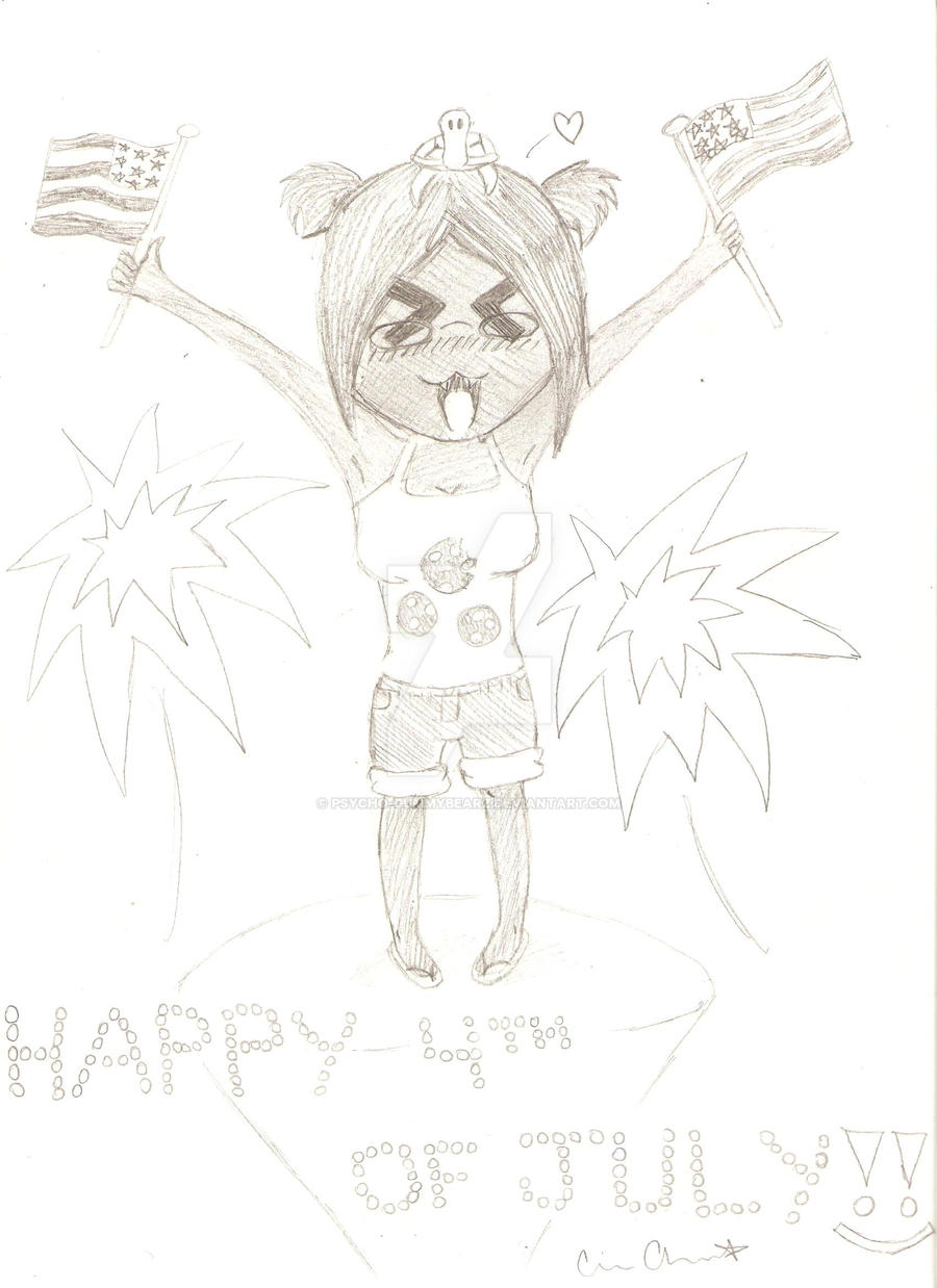 Happy fourth of July :D by psycho-gummybearz