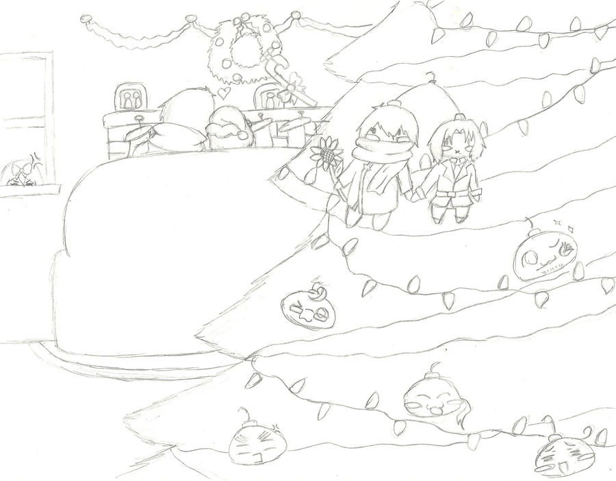 Hetalia Christmas by psycho-gummybearz