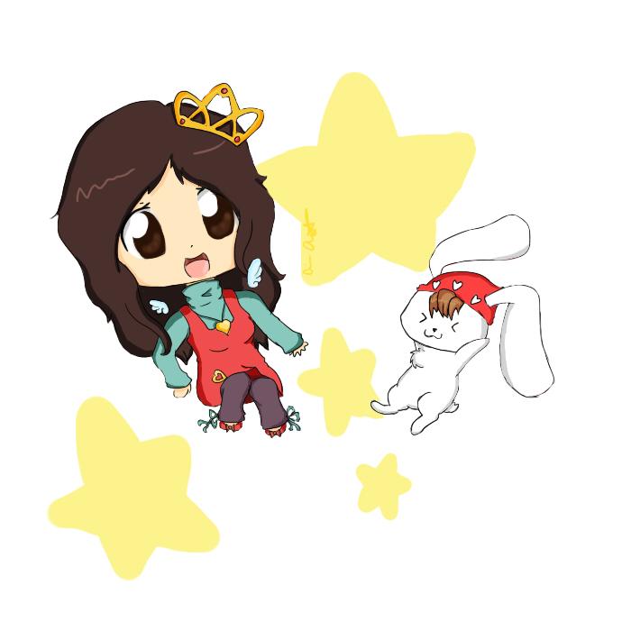 Heart and bunny :D by psycho-gummybearz