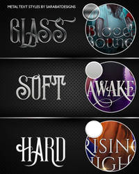 Sara's Metal Text Styles Pack by sarabatdesigns