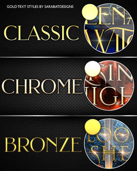 Sara's Gold Text Styles Pack