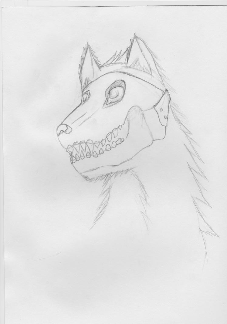 Skull-masked wolf Random 2AM drawing~ by dan-knauff