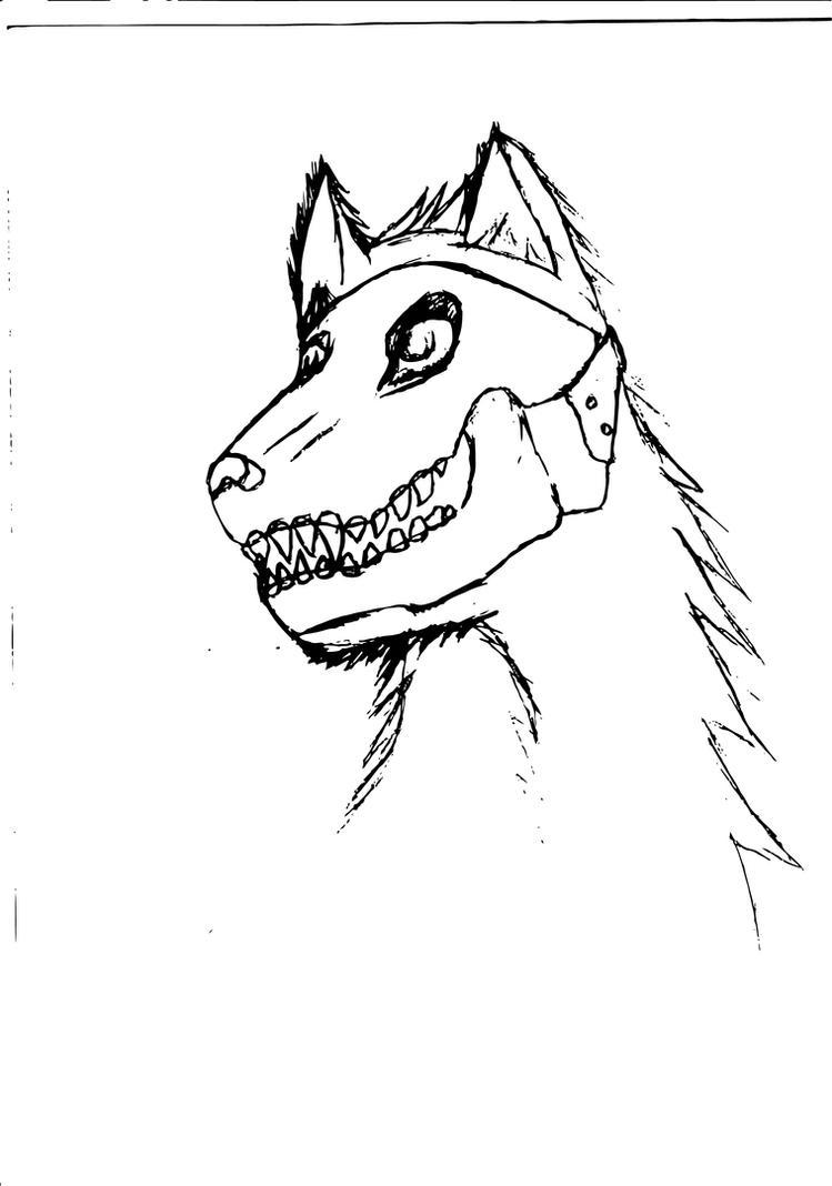 Skull-masked wolf lining WIP by dan-knauff