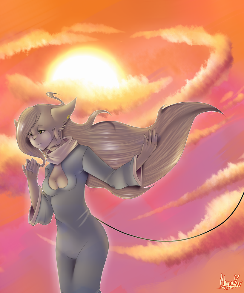 Colourful sunset by TransVersus22