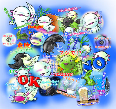LINE Sticker W.I.P by Niwa-Katuki