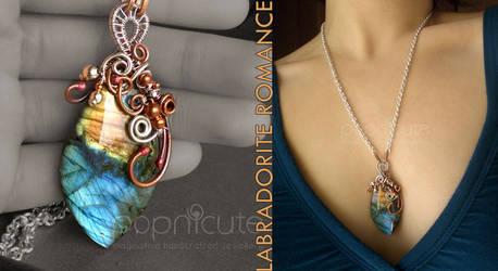 Blue Labradorite Necklace by popnicute