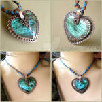 2 in 1 Labradorite Heart