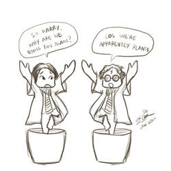 Harry and Ron as Plants