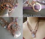 Purple Angle Necklace