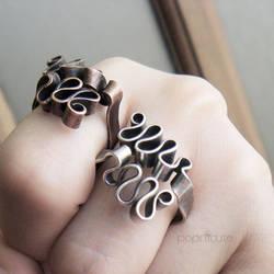 Ribbon Scribble Rings